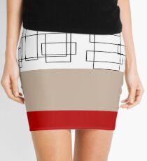 Red Stripe Mini Skirt
