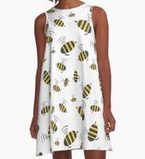Buzzing Bumble Bees - A tribute to the bees of the world.  A-Line Dress