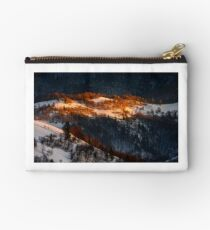 sunrise in winter mountains Studio Pouch