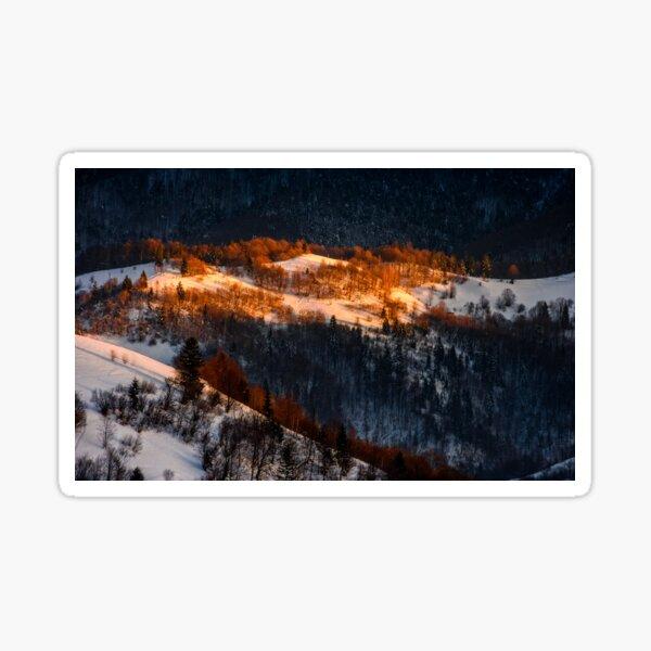 sunrise in winter mountains Sticker