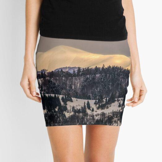 carpathians on golden winter sunrise Mini Skirt