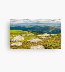 huge boulders in valley on top of mountain ridge Canvas Print