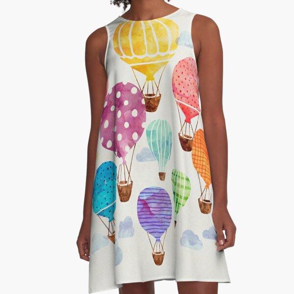 Hot Air Balloon A-Line Dress
