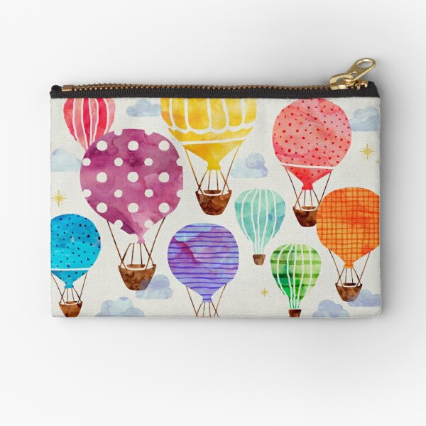 Hot Air Balloon Zipper Pouch