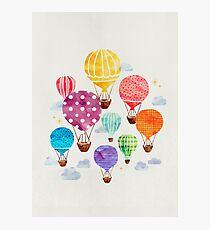 Heißluftballon Fotodruck