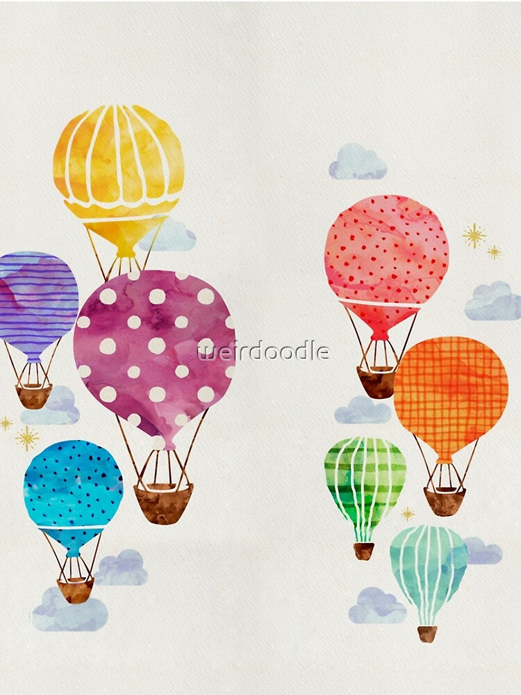 Heißluftballon von weirdoodle