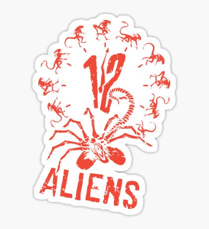 12 Aliens Sticker