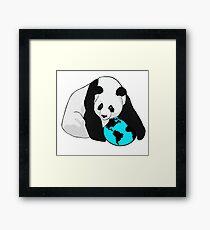 Eco Panda Framed Print