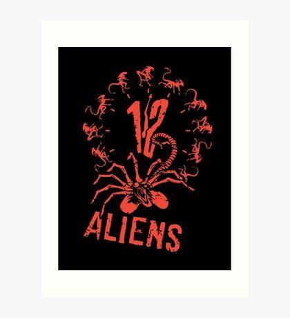12 Aliens Art Print