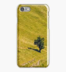 few trees on a mountain hill side iPhone Case/Skin