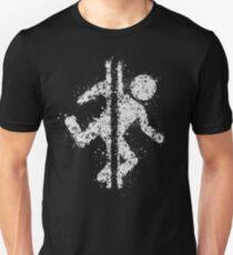 Portal Black and White Unisex T-Shirt