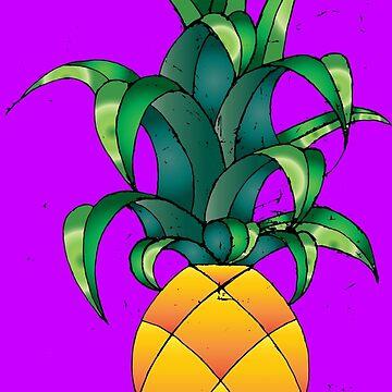 Pineapples! On Purple by CharlieLondon