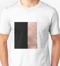 Rose metallic striping - marble and onyx Unisex T-Shirt