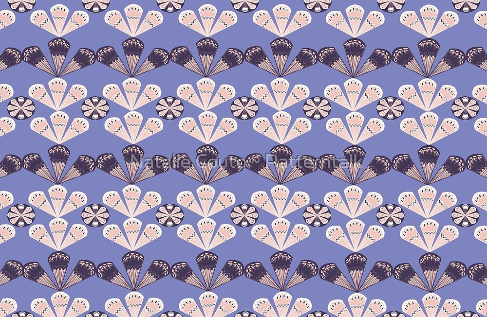 Fancy Fans - lilac by Natalie Couto ~ Patterntalk