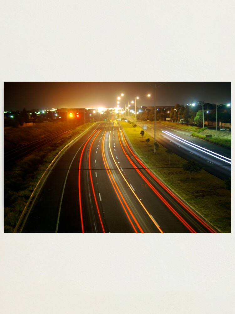 Alternate view of Highway lights Photographic Print