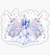 Cute watercolor unicorn Sticker