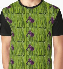 Sunny Green and Purple Summer Graphic T-Shirt