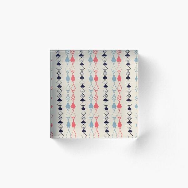 Aztec Diamond Stripes Acrylic Block