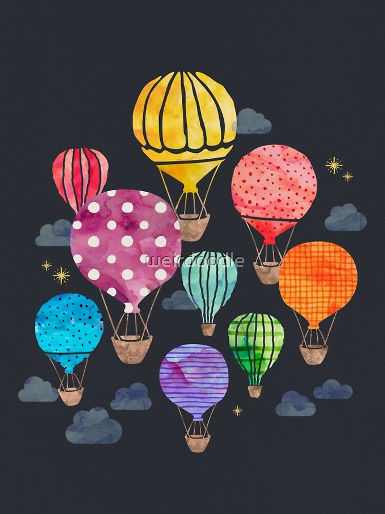 Hot Air Balloon Night by weirdoodle