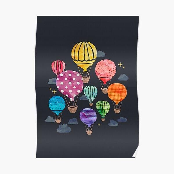 Nuit en montgolfière Poster