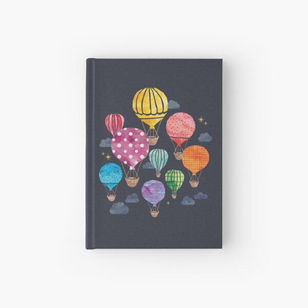 Hot Air Balloon Night Hardcover Journal