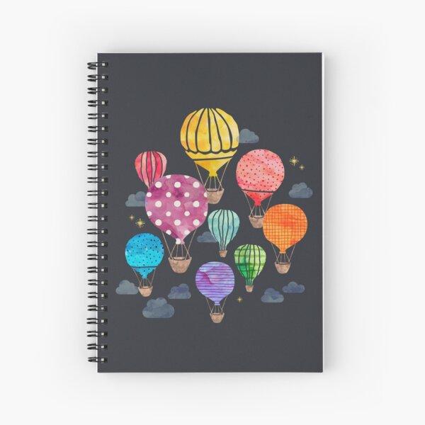 Hot Air Balloon Night Spiral Notebook