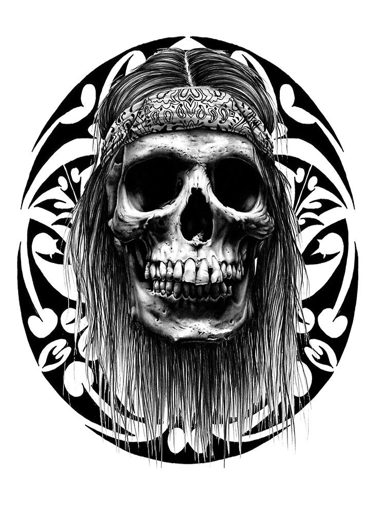 Indian tribal skull by kylebunnell
