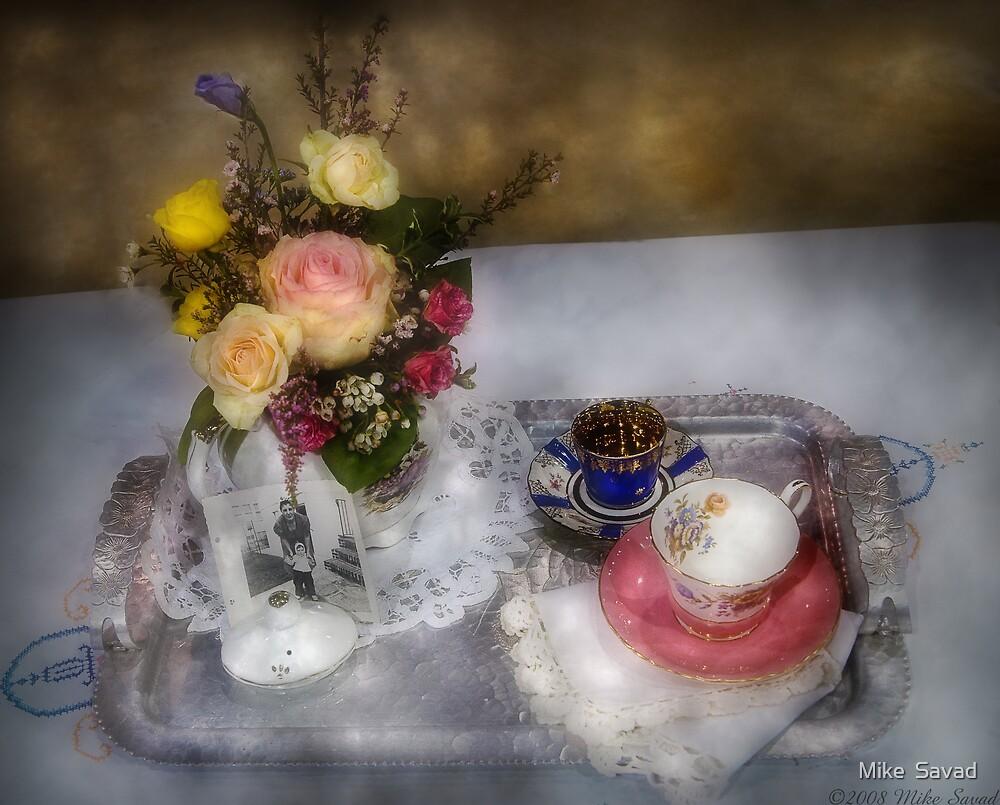 My Grandmothers Tea Set by Michael Savad