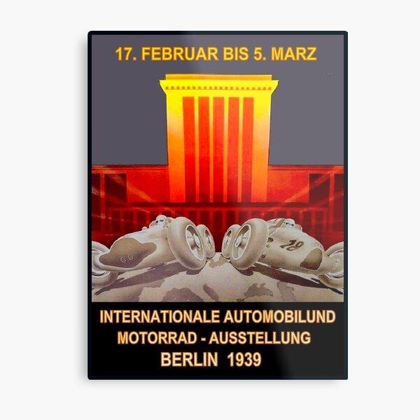 GERMAN GRAND PRIX: Vintage 1939 Auto Racing Print Metal Print