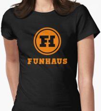 funhaus logo Womens Fitted T-Shirt