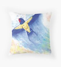 Flying Swallow Throw Pillow