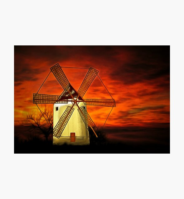 My vector drawing of a Dutch Windmill, colour by Dennis Melling