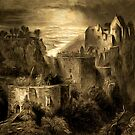 Aggstein Castle, Austria 1844 by Dennis Melling