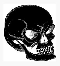 Graphic skull with fearful smile  Photographic Print
