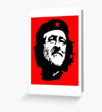 CORBYN, Comrade Corbyn, Leader, Labour Party, Politics, Black on RED Greeting Card