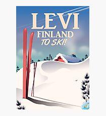 Levi, Finland ski travel poster Photographic Print