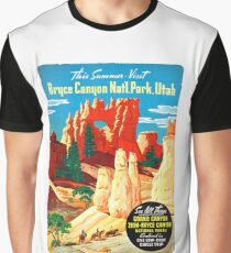 USA Utah Vintage Travel Poster Restored Graphic T-Shirt