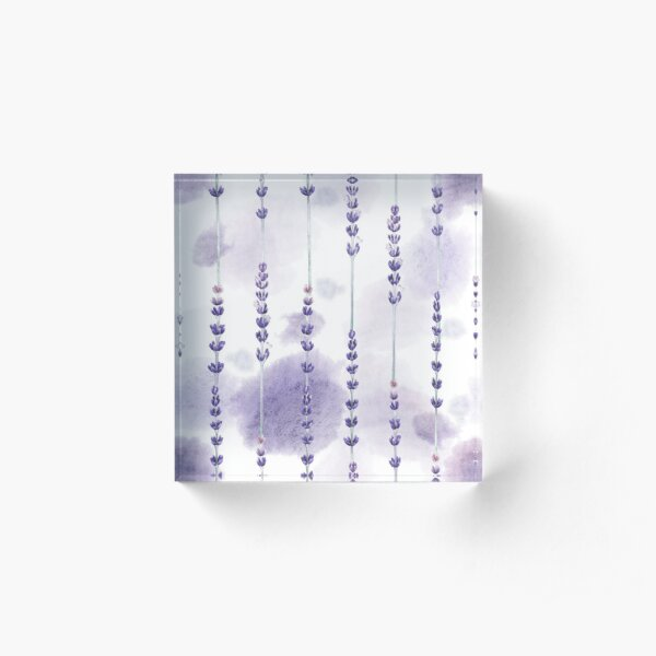 Watercolor lavender Acrylic Block