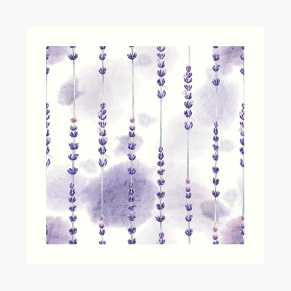 Aquarell Lavendel Kunstdruck