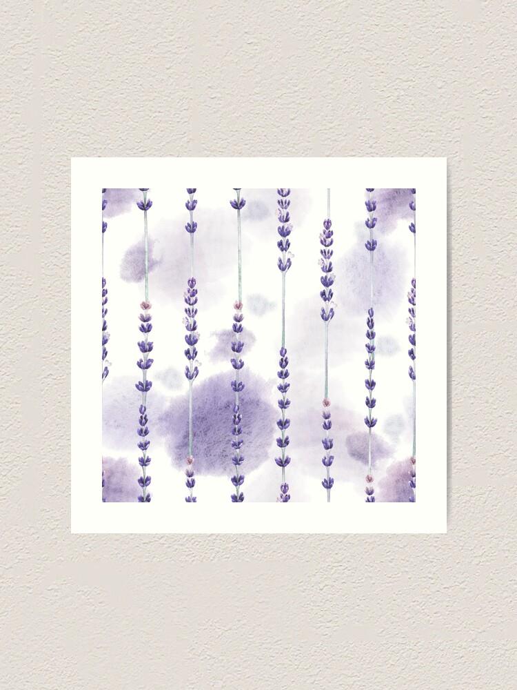 Alternate view of Watercolor lavender Art Print