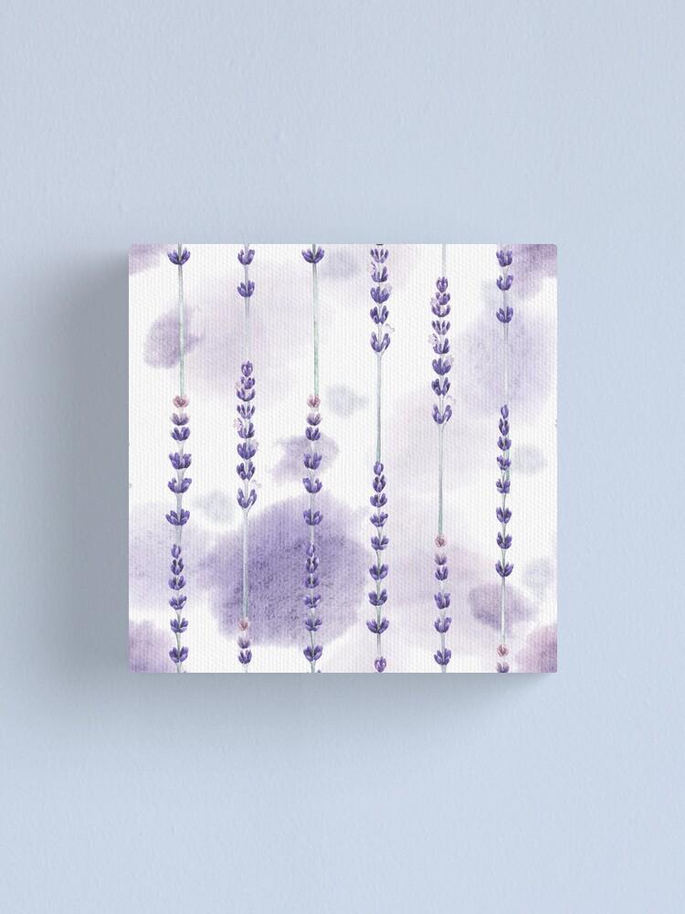 Alternate view of Watercolor lavender Canvas Print