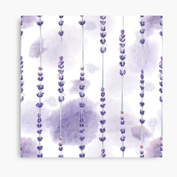 Watercolor lavender Canvas Print