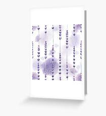 Aquarell Lavendel Grußkarte