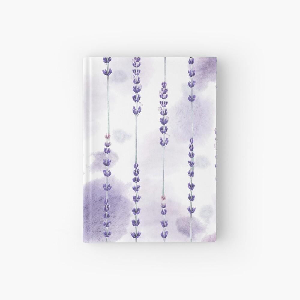 Watercolor lavender Hardcover Journal