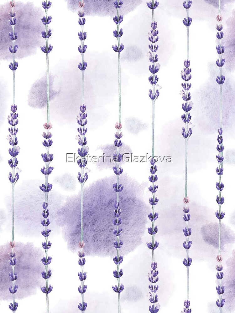 Watercolor lavender by Glazkova