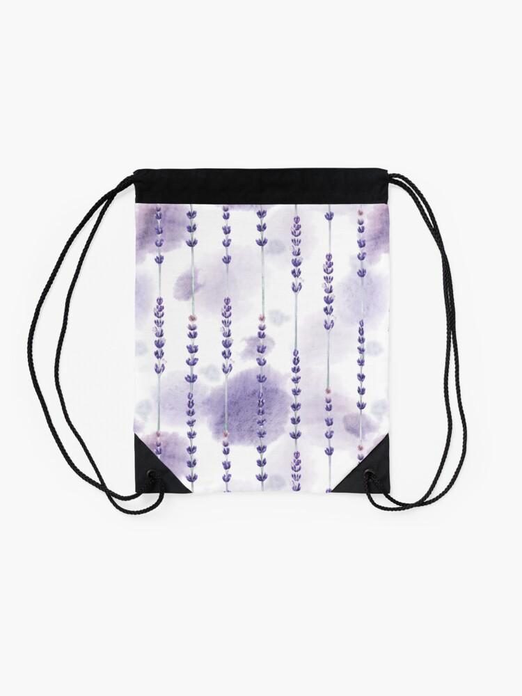Alternate view of Watercolor lavender Drawstring Bag