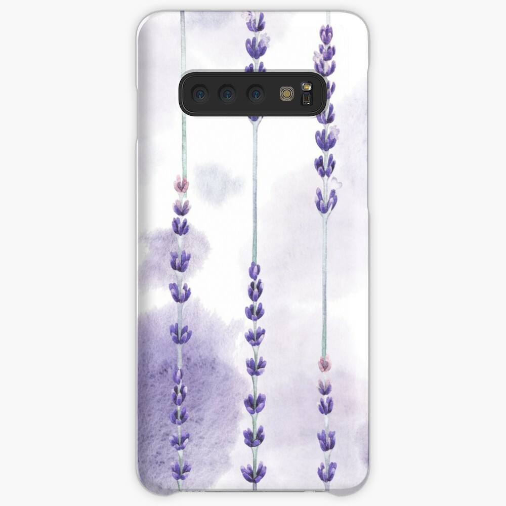 Watercolor lavender Cases & Skins for Samsung Galaxy