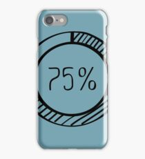 INFOGRAPHIC 75 PERCENT DOODLE CHART iPhone Case/Skin