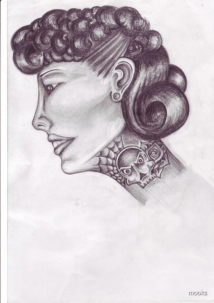 tattooed lady 50s style  by mooks