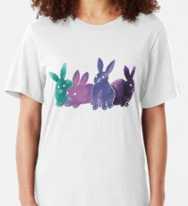Space bunnies! Slim Fit T-Shirt